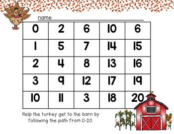 Turkey Number Mazes