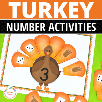 Thanksgiving Math Activities   Turkey Number and Math Activities   Number Mats