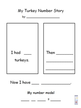 Turkey Number Story with Number Model