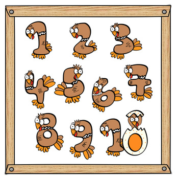 Turkey Numbers Clip Art
