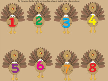 Turkey Numbers Smartboard