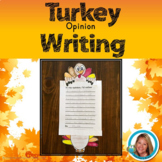 Turkey Craft Thanksgiving Activities  - Opinion Writing