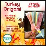 Turkey Origami A Critical Thinking Activity