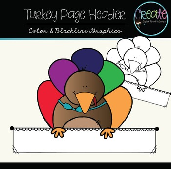 Turkey Page Header {Freebie} - Digital Clipart