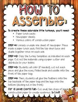 Turkey Paper Bag Craft --- Turkey Craft for Thanksgiving