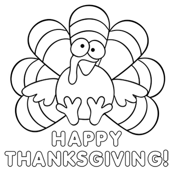 Thanksgiving Crafts - Thanksgiving Turkey Paper Craft and Coloring Page
