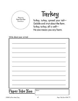 Turkey Paper Tube Animal
