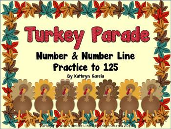 Turkey Parade: Numbers and Number Line Practice 1-125