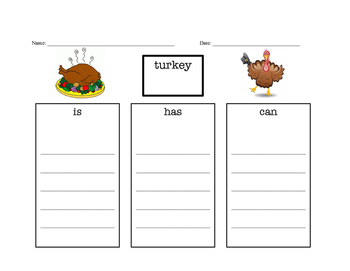 Writing a Paragraph about turkey