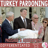 Turkey Pardoning - Close Reading Passage or Mix and Match