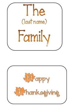 Turkey Parts - Thanksgiving Craft Idea