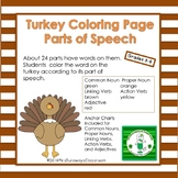 Turkey Parts of Speech (Coloring Page)