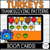 Turkey Patterns Boom Cards for Thanksgiving and Distance Learning