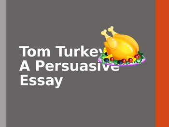 Turkey Persuasive Letter PowerPoint
