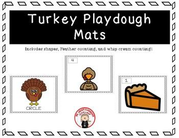 Turkey Play dough Mats