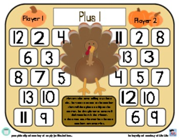 Turkey Plus One - Thanksgiving Addition Strategy Game - 3 Versions
