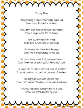 Turkey Time: Poem, Visualize, Rhyme, And Draw