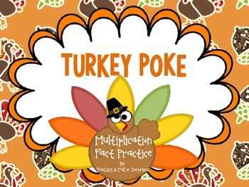 Turkey Poke: Multiplication Fact Practice