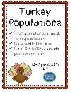 Turkey Populations ~Informational Text and Cause and Effec
