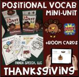 Turkey Positional Vocabulary Unit!  Speech Therapy Activities