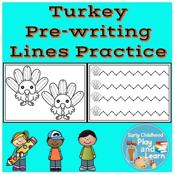 Turkey Pre-writing Lines Practice