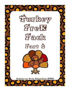 Turkey PreK Printable Learning Pack - Part 1