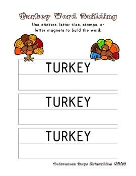 Turkey PreK Printable Learning Pack - Part 2