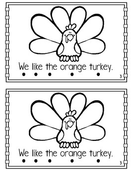 Turkey Printable Book {Sight Words & Color Words}