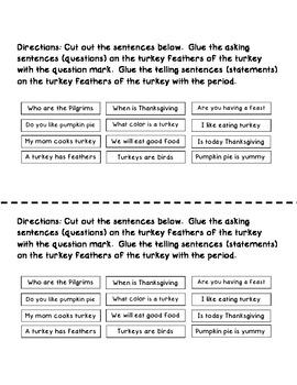 Turkey Punctuation Freebie