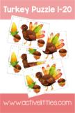 Turkey Puzzle 1-20 Printable Activity