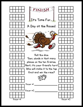 Turkey Races!  Math Center or Activity