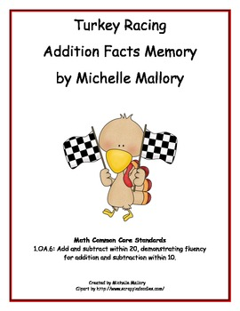Turkey Racing Addition Facts Memory