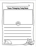Turkey Recipe Writing Freebie