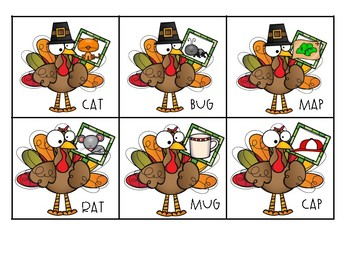 Turkey Rhyming Match