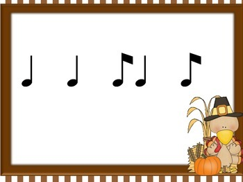 Thanksgiving Turkey Rhythms for eighth quarter eighth (ti ta ti)
