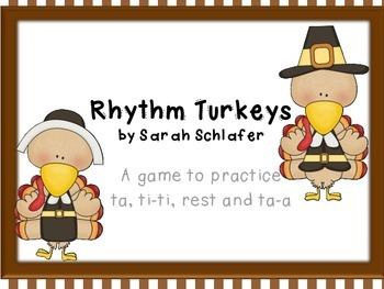 Thanksgiving Turkey Rhythms for half note