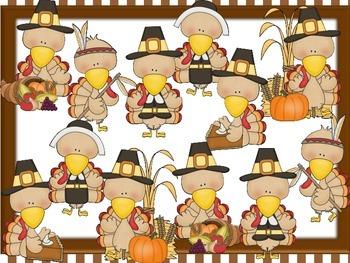 Thanksgiving Turkey Rhythms for ta and ti-ti