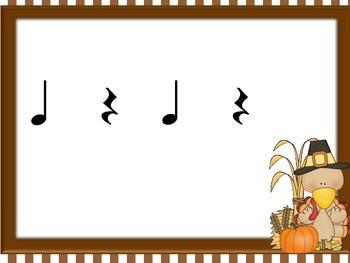 Thanksgiving Turkey Rhythms for ta, ti-ti, and rest