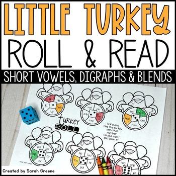 Turkey Roll! {CVC, digraphs & blends}