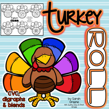 Turkey Roll! {CVC, digraphs & blends}