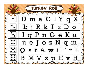 Letter Fluency: Turkey Roll Race