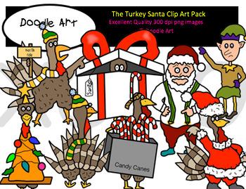 Turkey Santa Clipart Pack