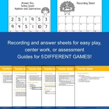 Thanksgiving Math Scoot Game:  Addition and Subtraction to 10
