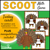 Thanksgiving Turkey Math Game for First Grade- Addition and Subtraction to 10