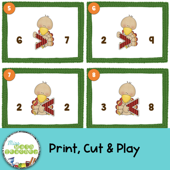 Turkey Scoot: Comparing Numbers 1 -10