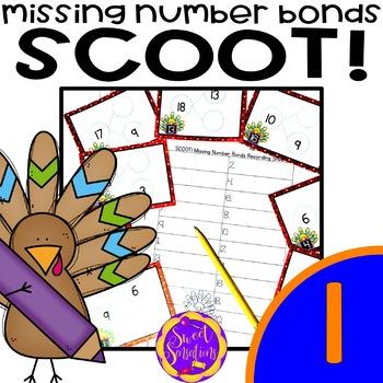 Number Bonds Game for Thanksgiving