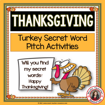 Thanksgiving Music Activities for Treble and Bass Clef