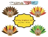 FREE Turkey Set: Clip Art Graphics for Teachers