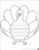Turkey Shape Book with Lined, Primary Lines, Blank, & Cover Pages