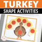 Turkey Shape Sorting Activity | Thanksgiving Shape Activities